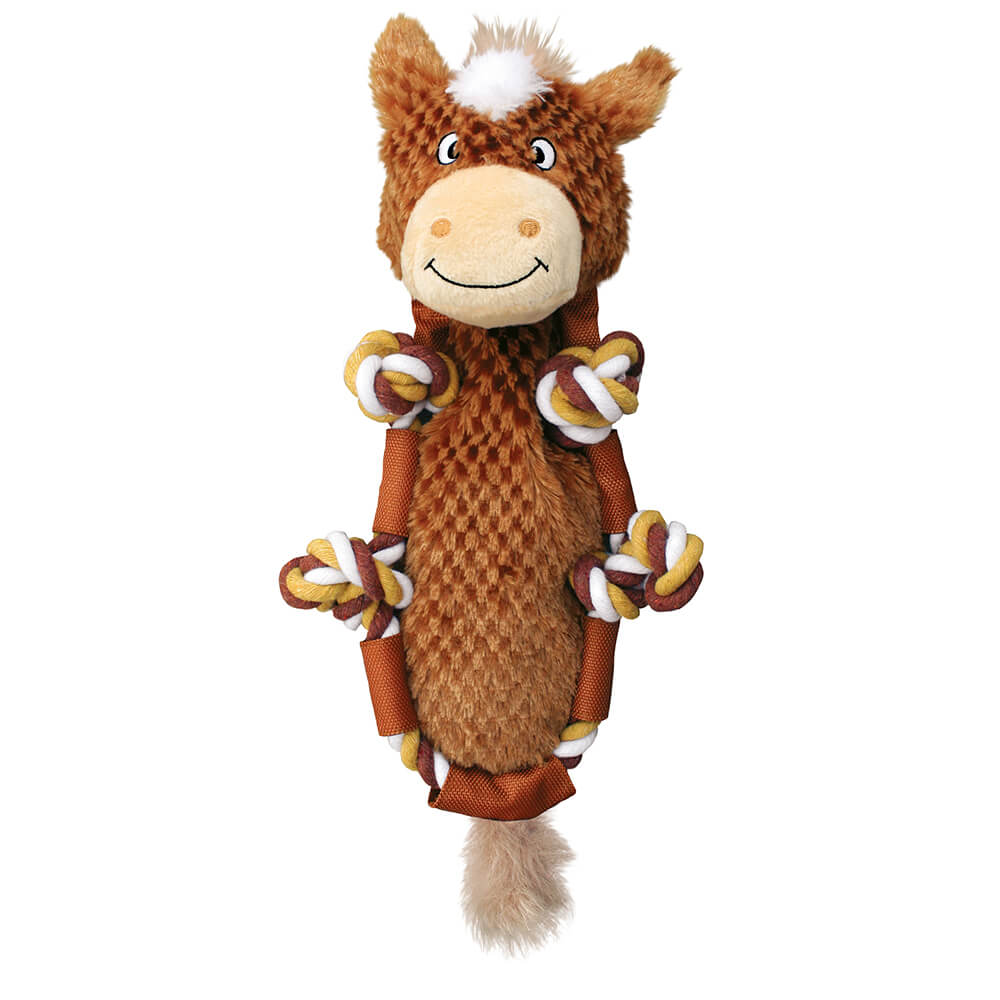 KONG Barnyard Knots Brown Horse Plush Toy