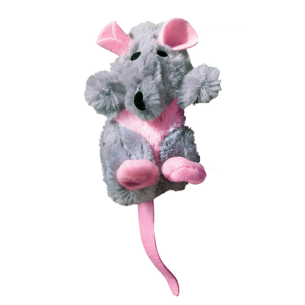 KONG Grey Rat Refillable Cat Plush Toy