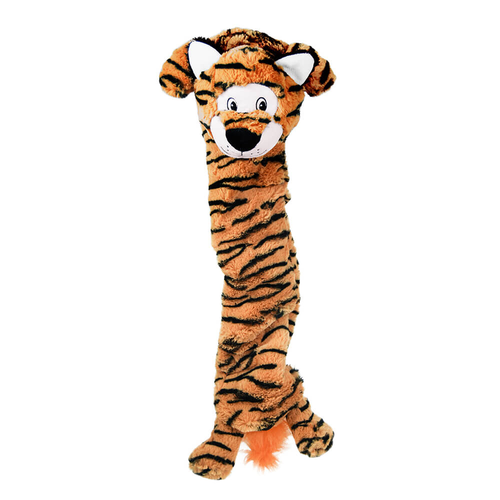 KONG Jumbo Stretchezz Orange Tiger Plush Toy