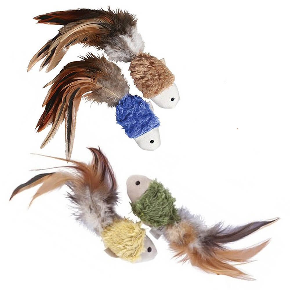 KONG Natural Crinkle Fish Plush Toy