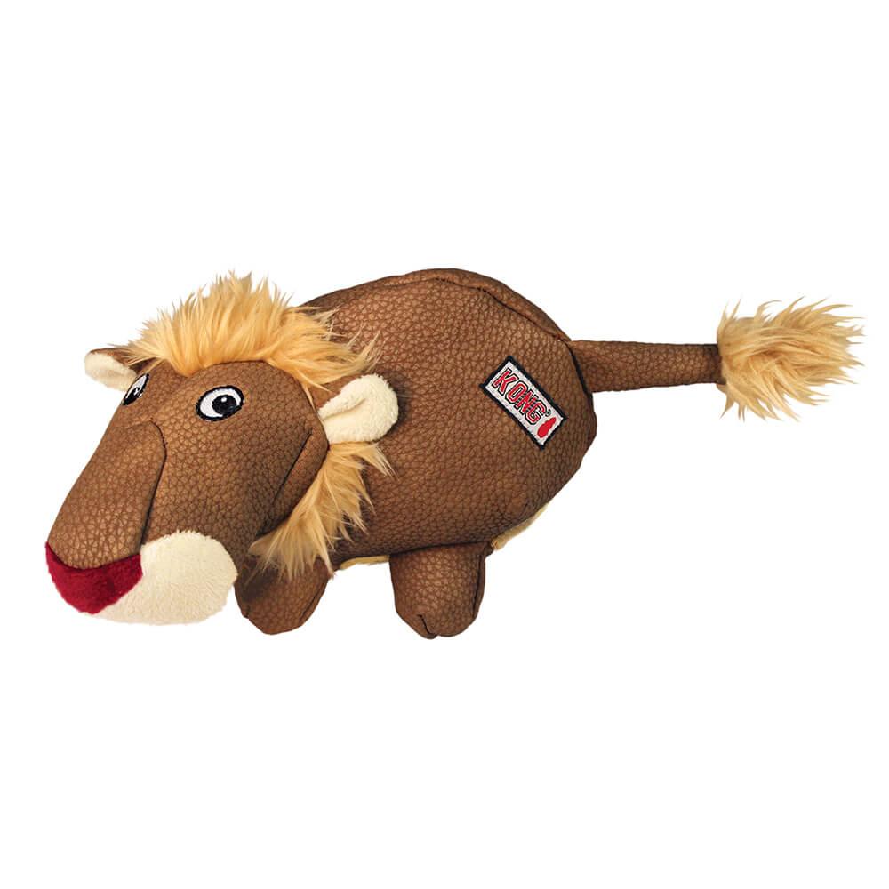 KONG PHATZ Brown Lion Squeak Toy