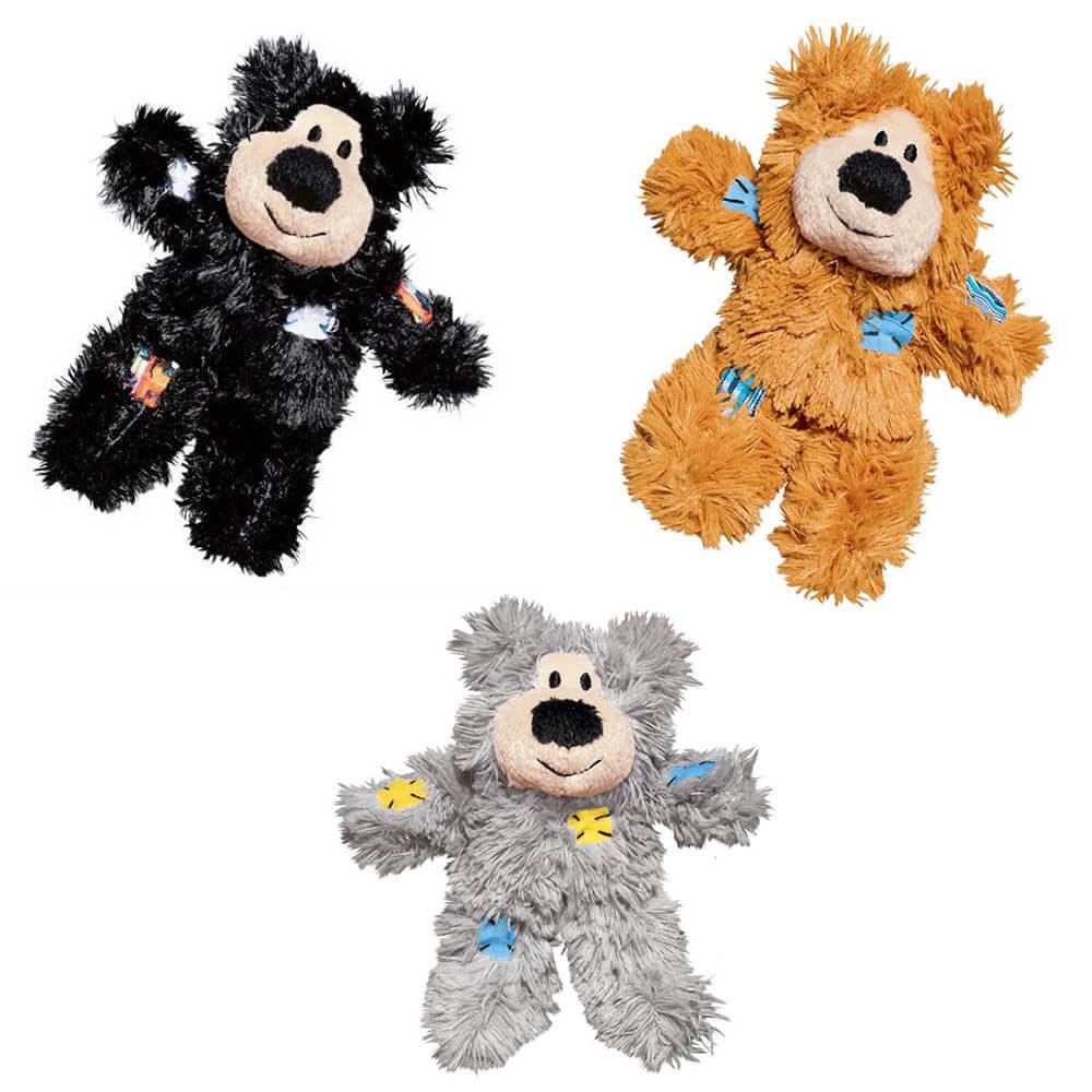 KONG SOFTIES Patchwork Bear Cat Plush Toy