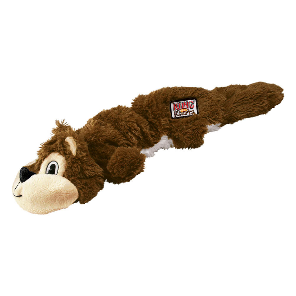 KONG Scrunch Knots Brown Squirrel Plush Toy