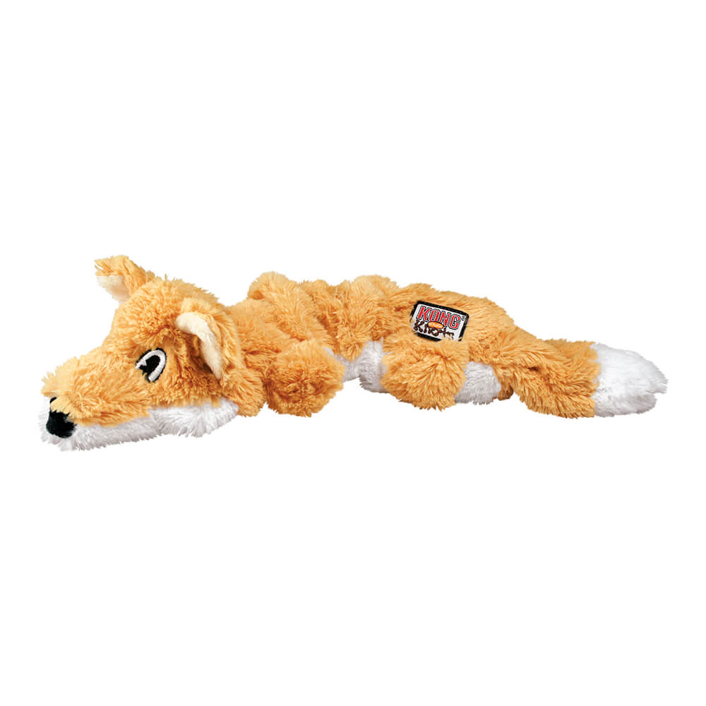 KONG Scrunch Knots Orange Fox Plush Toy