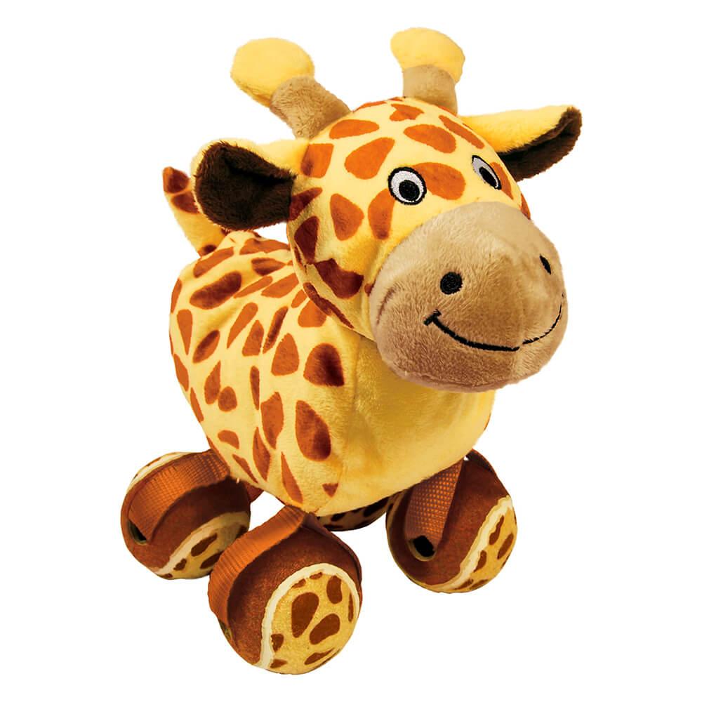 KONG TenniShoes Tennis Ball Giraffe Plush Toy