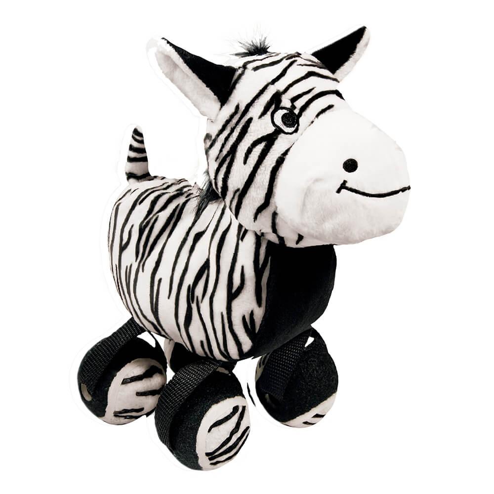 KONG TenniShoes Tennis Ball Zebra Plush Toy