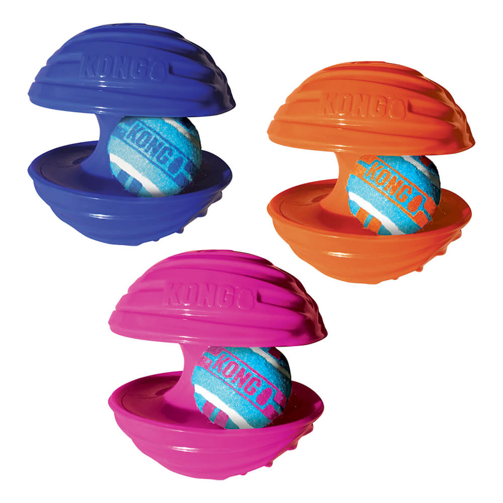KONG Rambler Tennis Ball & Interactive Toy