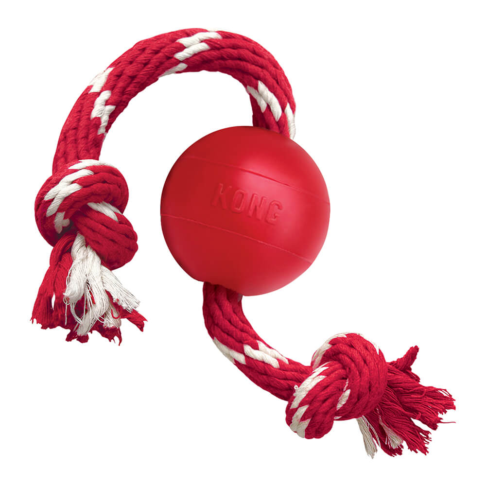 KONG Red Ball with Rope