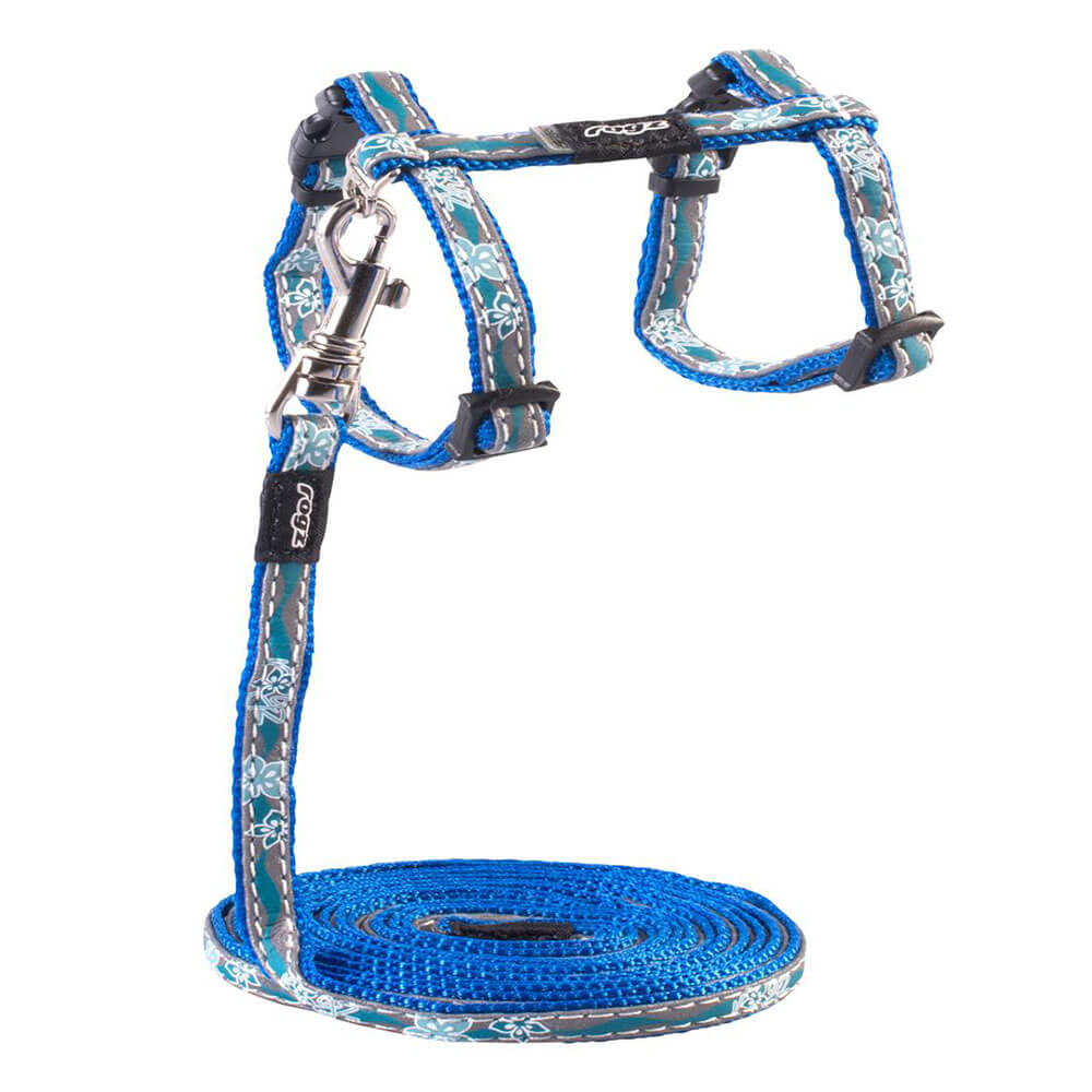Rogz Catz NightCat Reflective Cat Lead & H-Harness Combination