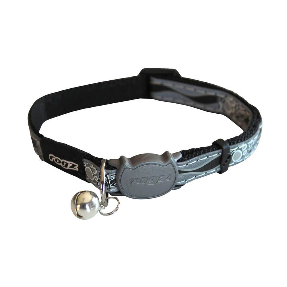 Rogz Catz NightCat Reflective Safeloc Breakaway Cat Collar