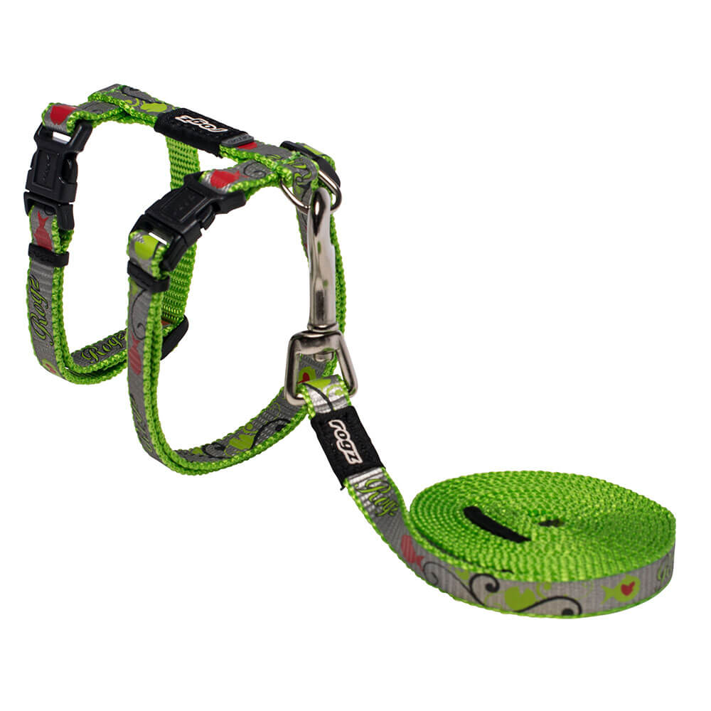 Rogz Catz ReflectoCat Reflective Cat H-Harness & Lead Combination