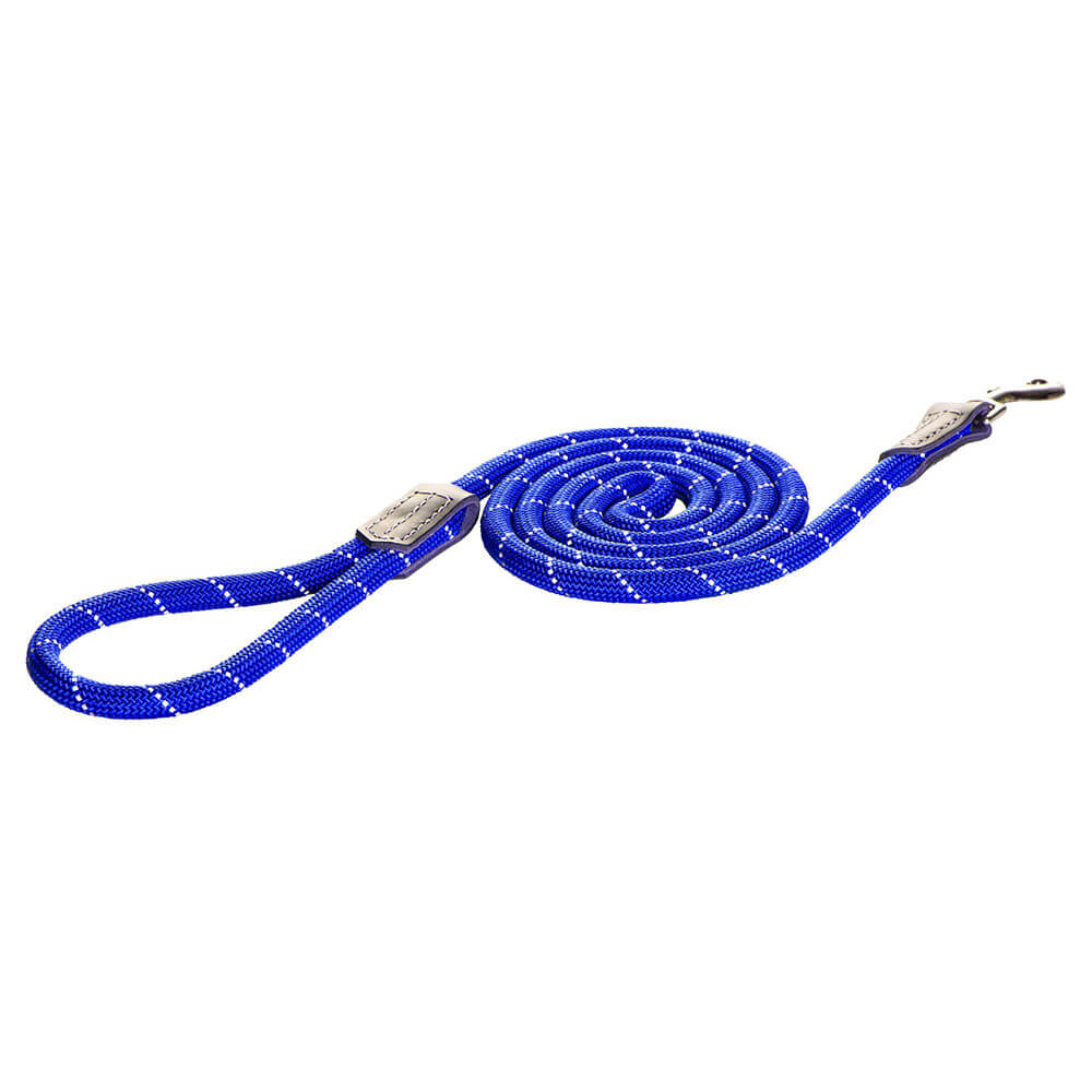 Rogz Rope Reflective 1.8m Long Fixed Dog Rope Lead
