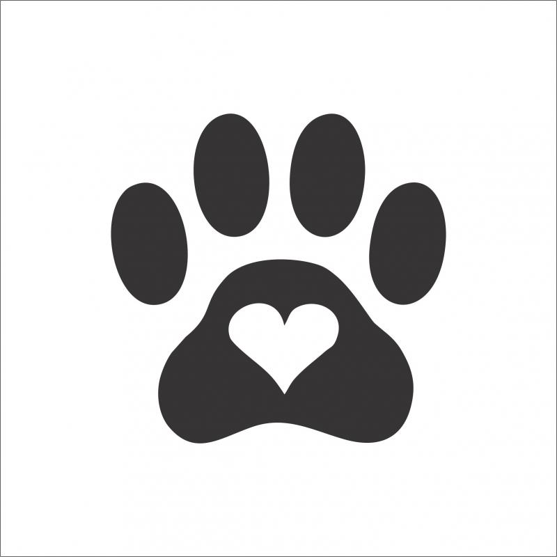 Best Buddy Black Paw Heart Sticker